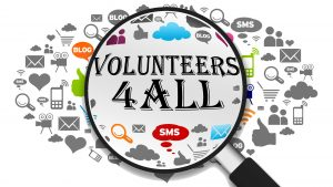 """Logo of project """"Volunteers 4 All"""""""